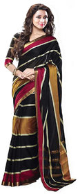 Glory sarees Multicolor Chanderi Self Design Saree With Blouse