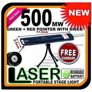 PIA INTERNATIONAL 1000mW Rechargeable Green Red Laser Pointer Party Pen Light 10 Miles -17