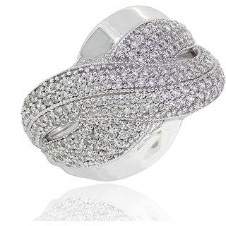 Joal Gold Plated White Sterling Silver Rings For Women