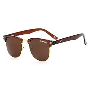 8cc02f66c76 Royal Son UV Protected Clubmaster Round Unisex Sunglasses (RS0010CM 51 Brown  Lens)
