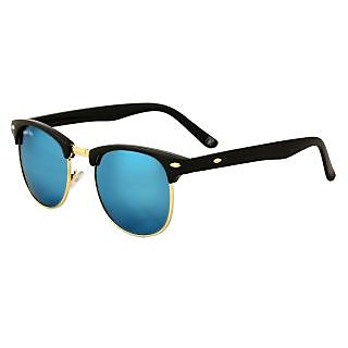 Royal Son Blue Mirrored Club-Master Unisex Sunglasses