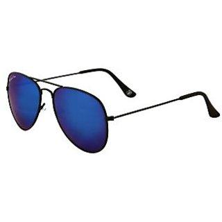 Royal Son UV Protected Aviator Unisex Sunglasses (RS0010AV58Bule Mirrored Lens)