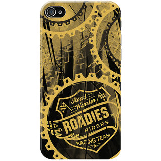 Roadies Hard Case Mobile Cover for   4S