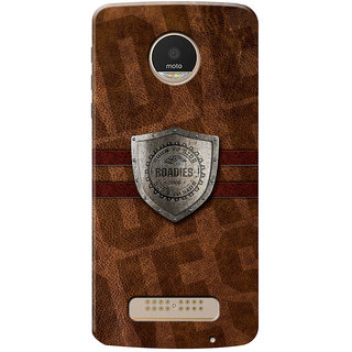 Roadies Hard Case Mobile Cover for Motorola Moto Z Play