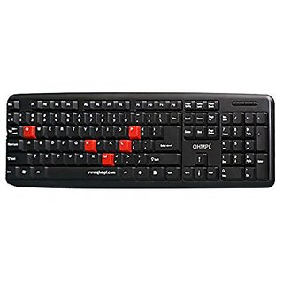 Quantum QHM7403 USB/PS2 Keyboard Black