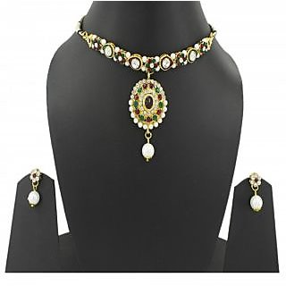 Guarantee Ornament House  Imitation Jewellery Designer Golden Fashion Necklace GOHSET23