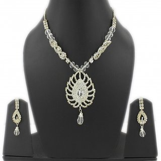 Guarantee Ornament House  Imitation Jewellery Designer Golden Fashion Necklace GOHSET29