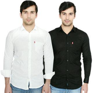Knight Riders Mens Slim Fit linen Shirt