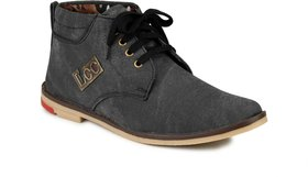 Nee Men Grey High Ankle Lace-up Boots