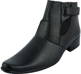 Skyline Men Black Zip Boots