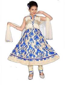 Girl Anarkali Printed Suit