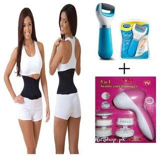 3254d623a345f Ibs sauna slimming shaper Slim Waist Tummy Abdomen Belt FACIAL KIT Massager  SWEAT BELT