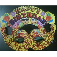 Beautiful Happy Birthday Paper Mask Pack Of 10