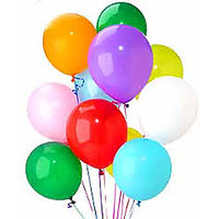 Latex Plain Balloons Assorted Color (Pack Of 10)