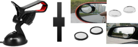 s4d car mobile holder and blind spot mirror