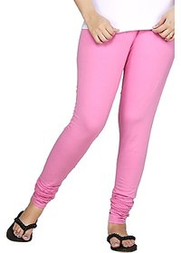 V Now Online Baby Pink Cotton Leggings