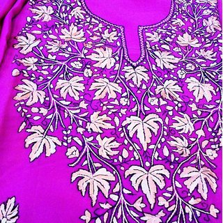 kashmiri ladies suits hand embroidery