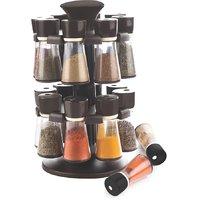 Plastic Jar Revolving Spice / Masala Rack / Masala Box / Spice Reck - CK364 (No. of Pieces 16)