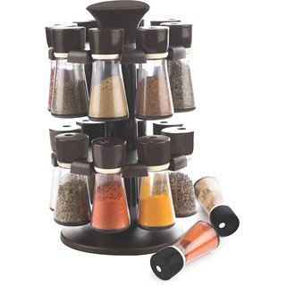 Plastic Jar Revolving Spice / Masala Rack / Masala Box / Spice Reck - CK364 (Set of 1)