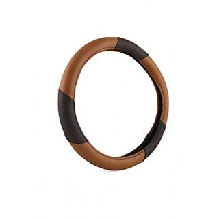 Bluetuff Perfect Fit  Brown And Black Steering Cover For SsangYong Korando