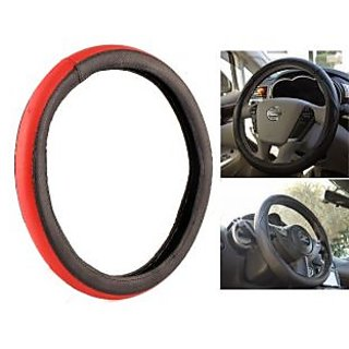 MP Best Quality  Red And Black Steering Cover For Tata Bolt