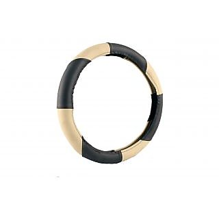 MP Premium Quality  Beige And Black Steering Cover For Maruti Suzuki Swift Dzire