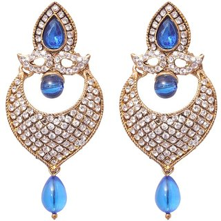 Styylo Fashion Exclusive Blue White Earring Set/S 1080