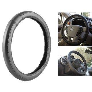 Bluetuff Premium Quality  Black Steering Cover For Hyundai Accent