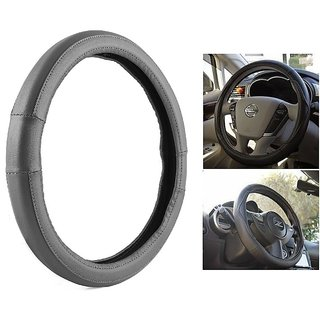 Bluetuff Anti Slip  Grey Steering Wheel Cover For Daewoo Cielo