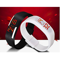 Led Black With White Digital Led Sport Watch