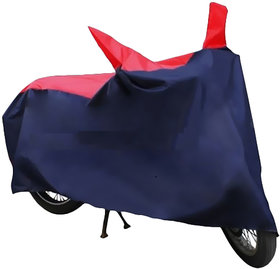 BOXER AT -RED AND BLUE Bike Body Cover With Mirror Pockets-HMS