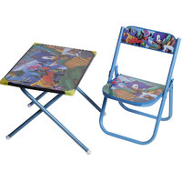 NHR Classic kids study Table  Chair (Blue)