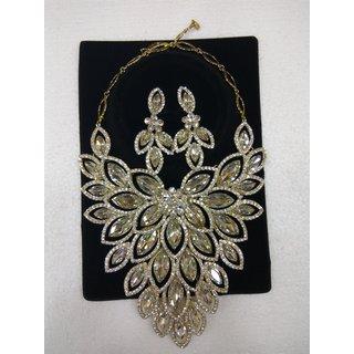 Necklace Statement Latest Fashion Jewelry Rhinestone Party Gift Crystal