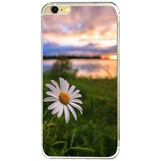 Fuson Designer Phone Back Case Cover Apple IPhone 6s Plus ( White Flower With A Background )