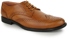 Funku Fashion Men Tan Lace-up Formal Shoes