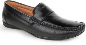 Funku Fashion Men Black Slip On Formal Shoes