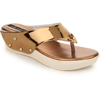 Funku Fashion Women's Brown Wedges