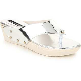 Funku Fashion Women's Silver Wedges