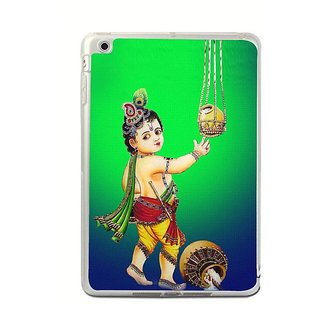 Fuson Designer Phone Back Case Cover Apple IPad Mini 4 ( Little Krishna Getting The Butter )
