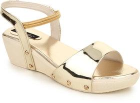 Funku Fashion Women's Gold Sandals
