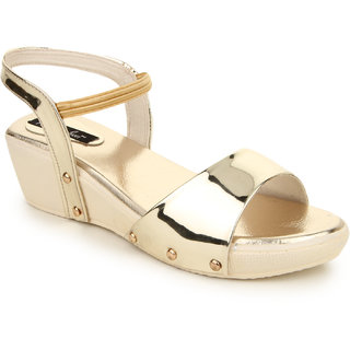 Funku Fashion Women's Gold Sandals