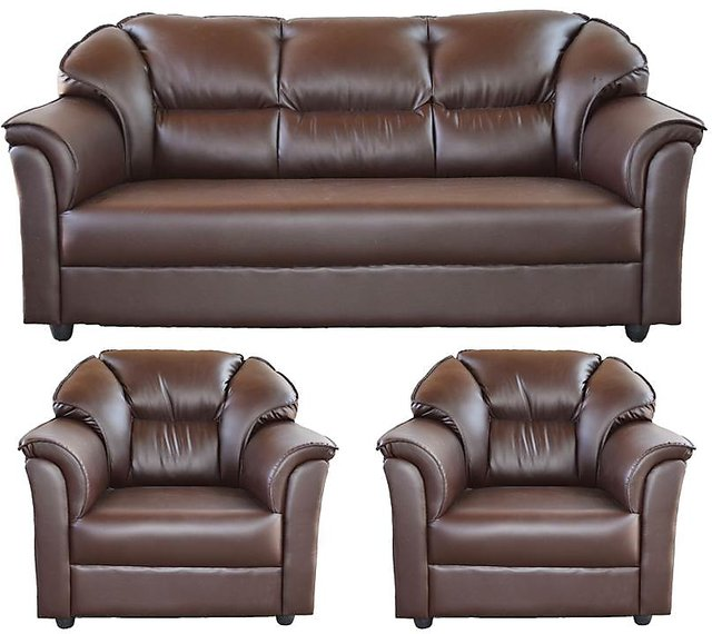 Pleasant Westido Brown Leatherette 3 1 1 Glascow Sofa Set Inzonedesignstudio Interior Chair Design Inzonedesignstudiocom