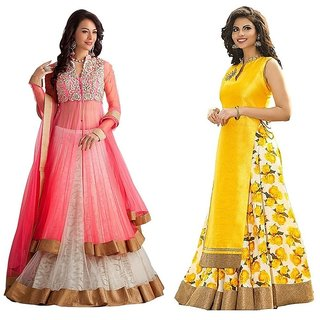 78a49afe0c2ee White World Women s Designer Semi-stitched Free Size XXL combo Lehenga Choli(Women s  indian Clothing Lehenga Choli)