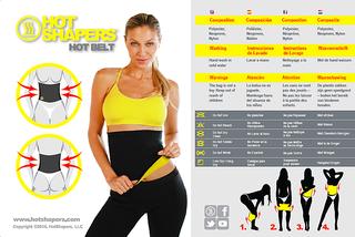 Hot Shapers Slimming Belt Neoprene Hot Waist Belt Hot Slim Body for Fitness XXl