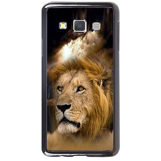 Fuson Designer Phone Back Case Cover Samsung Galaxy A7 ( Lion Face Imprinted On Jungle )