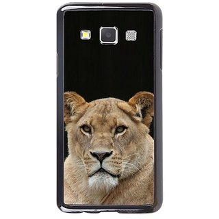 Fuson Designer Phone Back Case Cover Samsung Galaxy A5 ( Lion Looking Out )