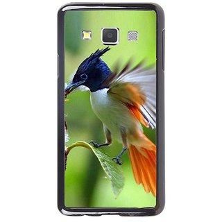 Fuson Designer Phone Back Case Cover Samsung Galaxy A7 ( Bird Feeding Its Young )