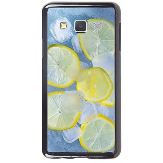 Fuson Designer Phone Back Case Cover Samsung Galaxy A7 ( Lemons And Ice Cubes )