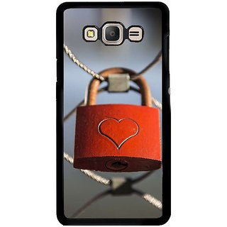 Fuson Designer Phone Back Case Cover Samsung Galaxy E5 ( The Lock To My Heart )