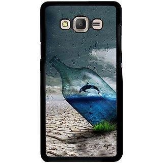 Fuson Designer Phone Back Case Cover Samsung Galaxy E5 ( The Whale Inside The Bottle )